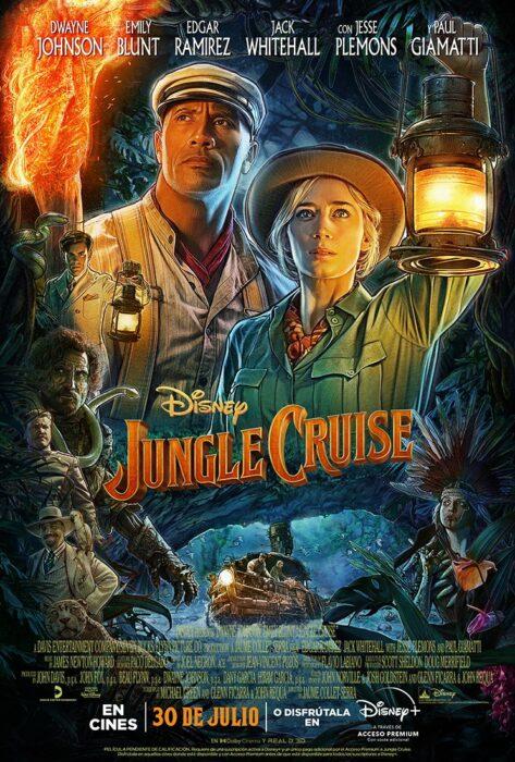 Poster oficial de la película Jungle Cruise; Hay nuevo tráiler de 'Jungle Cruise' con Dwayne Johnson y Emily Blunt
