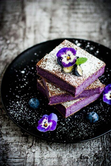 Brownie relleno de moras ;18 Hermosos pasteles de moras que querrás presumir en Instagram