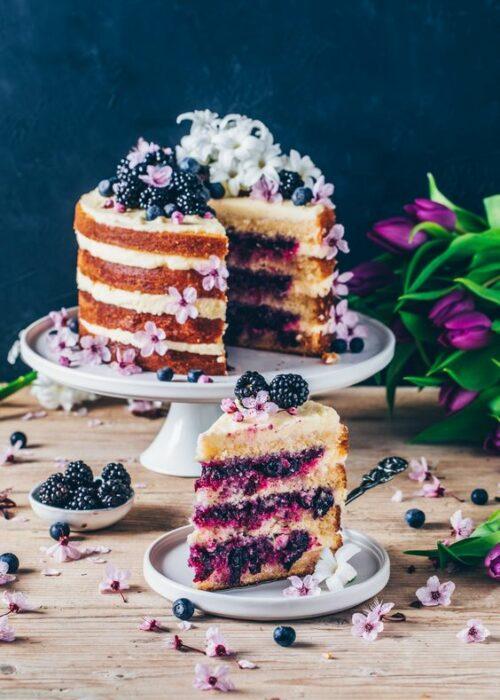 Pastel rustico con moras ;18 Hermosos pasteles de moras que querrás presumir en Instagram