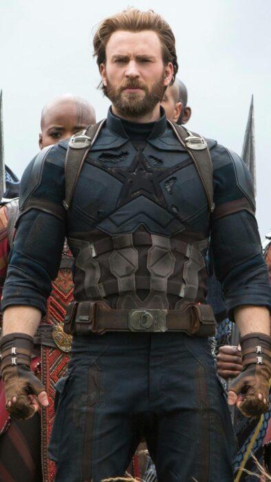 Chris Evans como el Capitán America