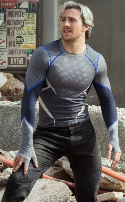 Pietro Maximoff en su papel de  Quicksilver en Avengers
