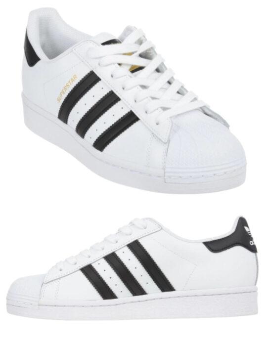 Tenis adidas blancos con detalles en negro
