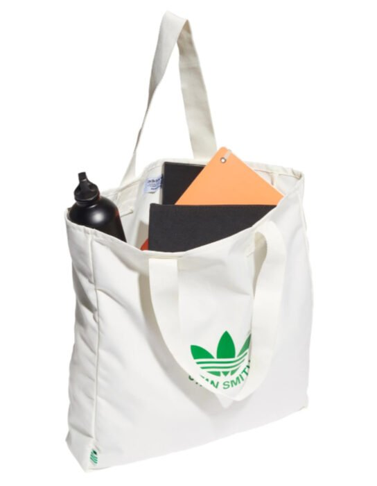 Bolsa adidas blanca con verde