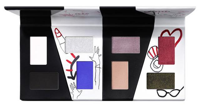 Paleta de sombras creada por Mac e inspirada en Cruella de Vil