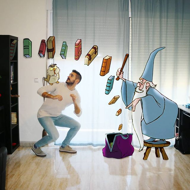 Personajes de la espada en la piedra edición de Samuel MB ;Maestro convierte a personajes Disney en sus roomies y se vuelve viral