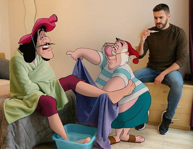 Personajes de Peter Pan edición de Samuel MB  ;Maestro convierte a personajes Disney en sus roomies y se vuelve viral