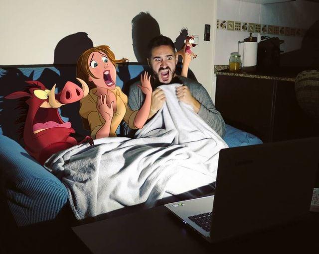 Personajes de Tarzán edición de Samuel MB  ;Maestro convierte a personajes Disney en sus roomies y se vuelve viral