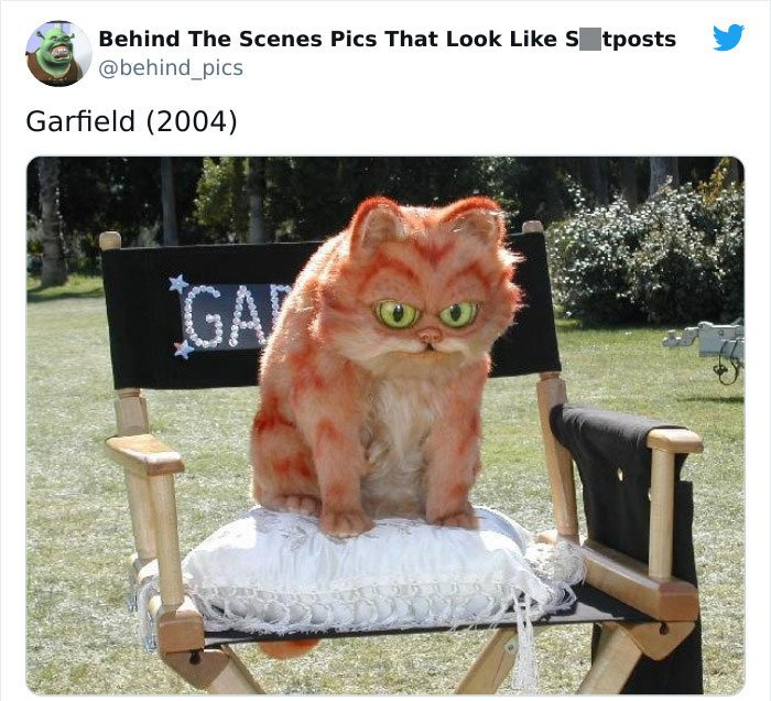 Detrás de escena de la película Garfield