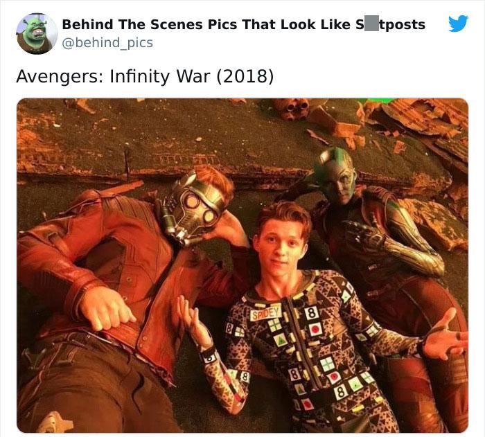 Detrás de escena de la película Infinity War