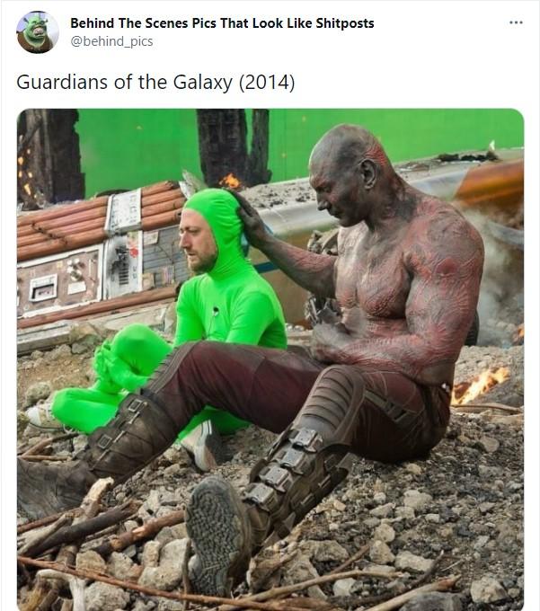 Detrás de escena de la película Guardianes de la Galaxia