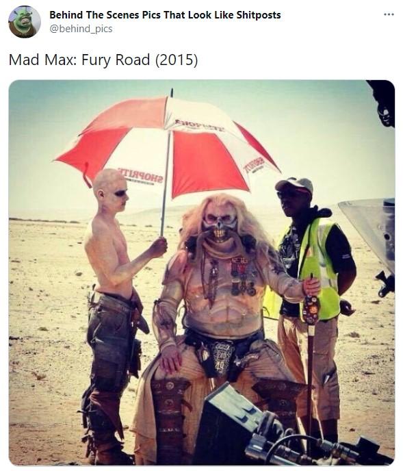 Detrás de escena de la película Mad Max, furia en el camino