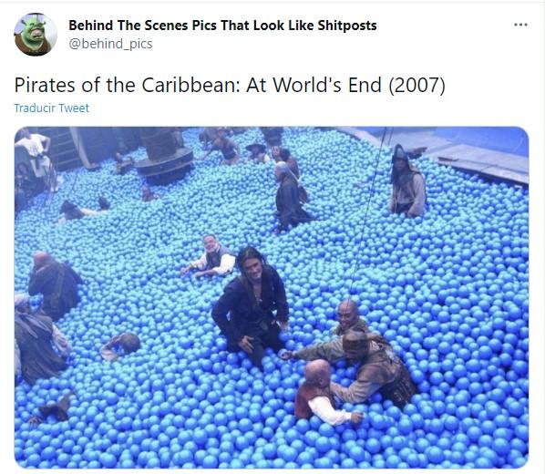 Detrás de escena de la película Piratas del caribe en el fin del mundo