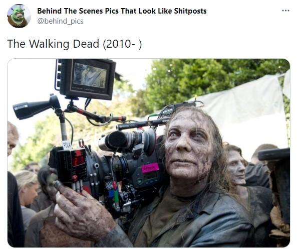 Detrás de escena de la película The Walking Dead