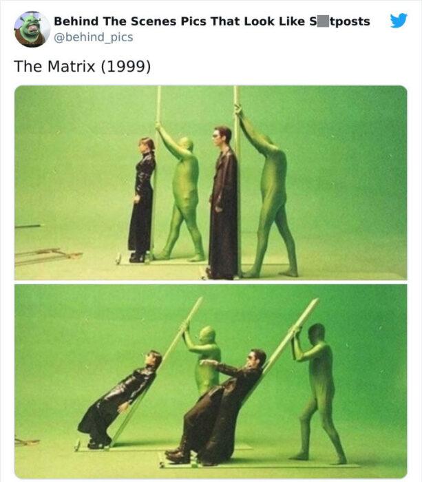 Detrás de escena de la película Matrix