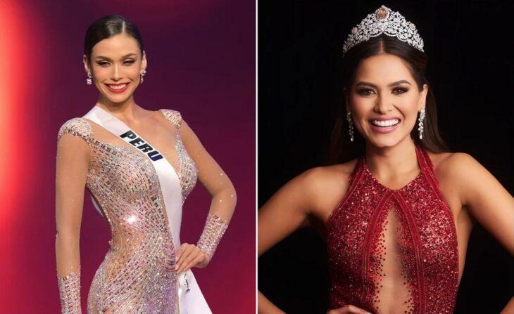 Miss Perú y Miss México durante Miss Universo 2021