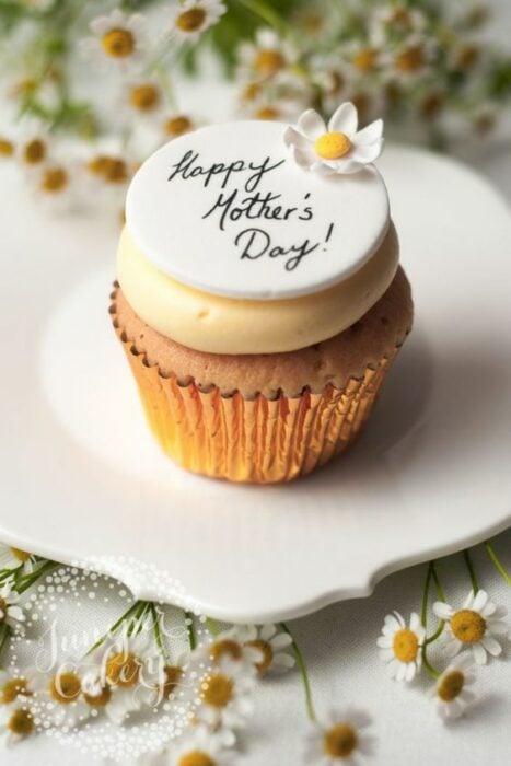cupcake de vainilla ;15 Pasteles para demostrarle a mamá cuanto la amas