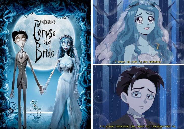 El cadáver de la novia recreado en anime