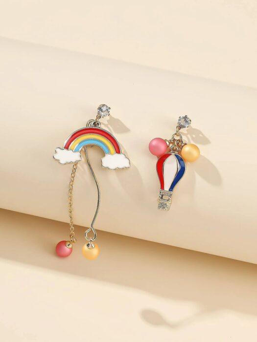 aretes en forma de arcoíris ;13 Coloridos regalos para las chicas que aman los arcoíris