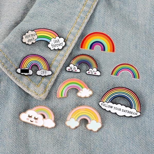 prendedores en forma de arcoíris ;13 Coloridos regalos para las chicas que aman los arcoíris