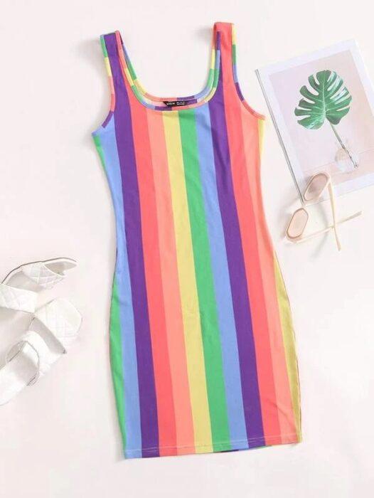 vestido de arcoíris ;13 Coloridos regalos para las chicas que aman los arcoíris