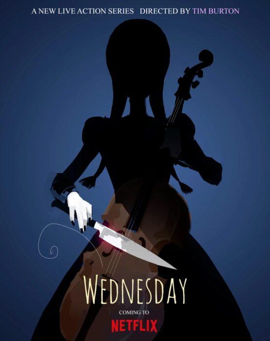 Poster promocional de la serie Wendesday; Tim Burton quiere a Christina Ricci como Morticia en la serie de Netflix