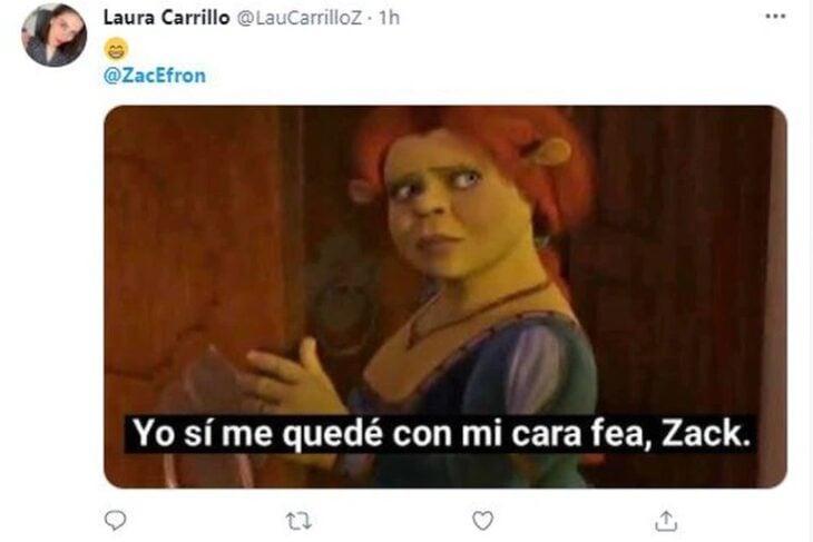 Comentarios en twitter sobre el rostro de Zac Efron