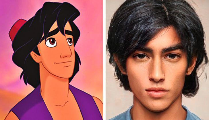 Aladdin ilustrado con aspecto real por Darky Artists; Artista redibuja a personajes animados como personas y el resultado es chulísimo