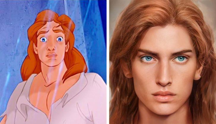 El príncipe Adam ilustrado con aspecto real por Darky Artists; Artista redibuja a personajes animados como personas y el resultado es chulísimo