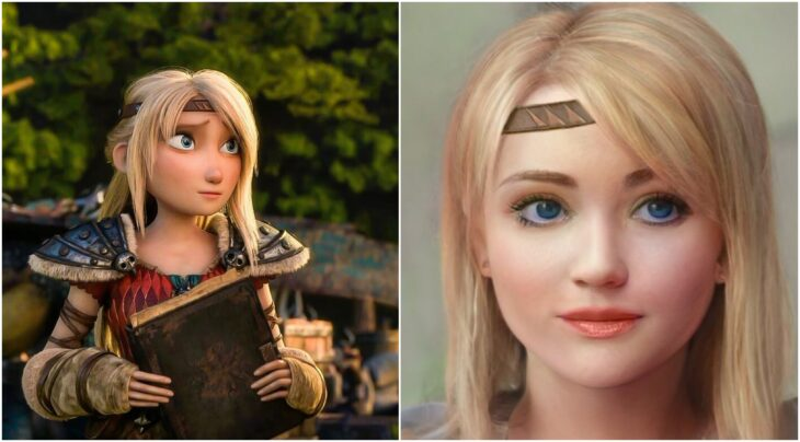 Astrid ilustrado con aspecto real por Darky Artists; Artista redibuja a personajes animados como personas y el resultado es chulísimo