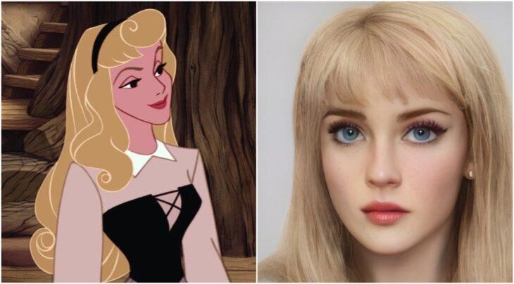 Aurora ilustrado con aspecto real por Darky Artists; Artista redibuja a personajes animados como personas y el resultado es chulísimo