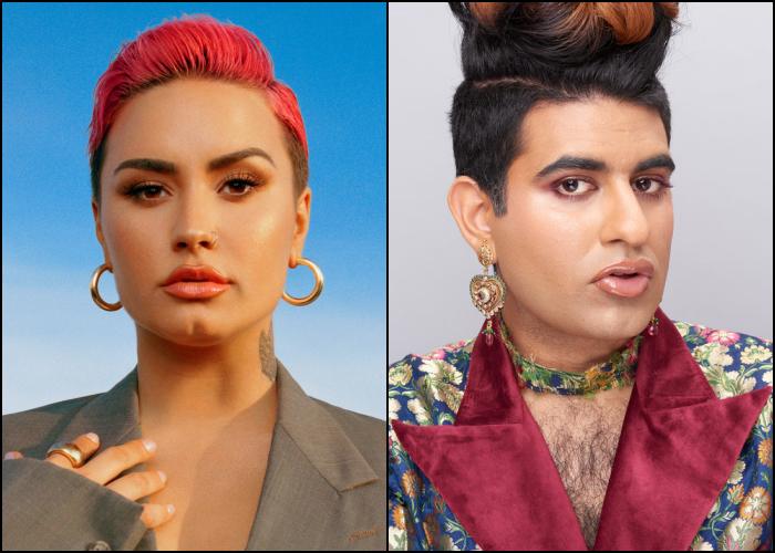 Demi Lovato y Alok Vaid-Menon