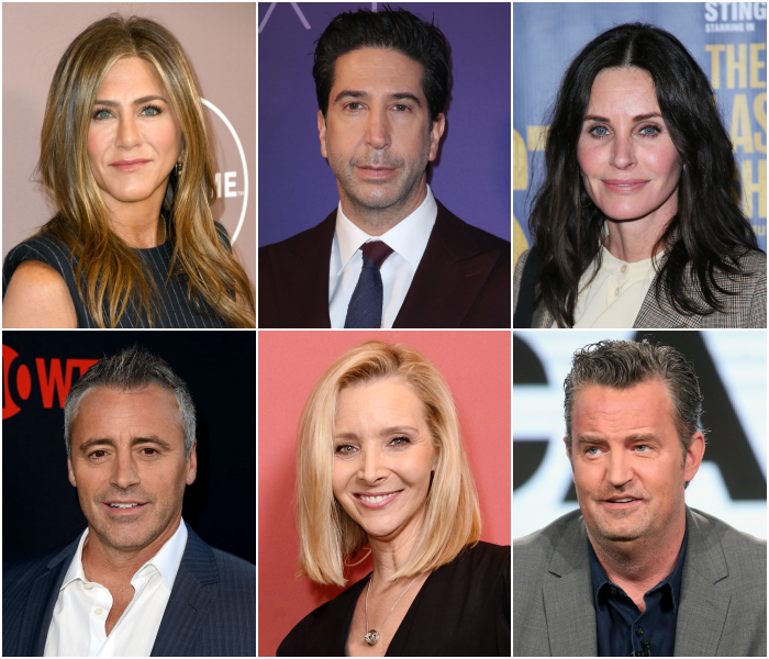 Jennifer Aniston, Courteney Cox, Lisa Kudrow, Matt LeBlanc, Matthew Perry y David Schwimmer