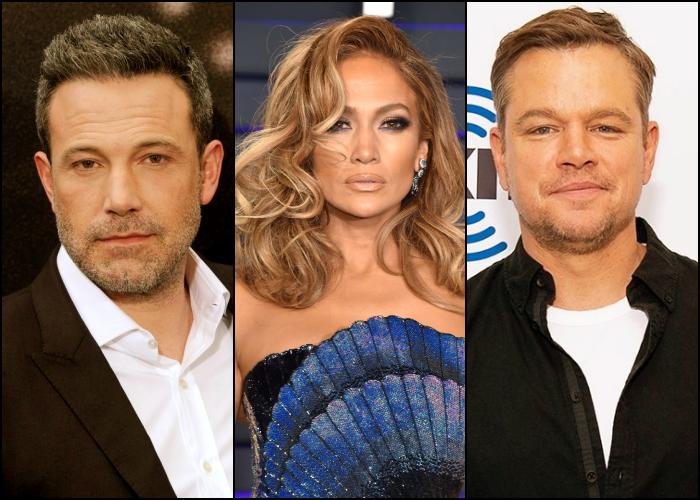Ben Affleck, Jennifer Lopez y Matt Damon