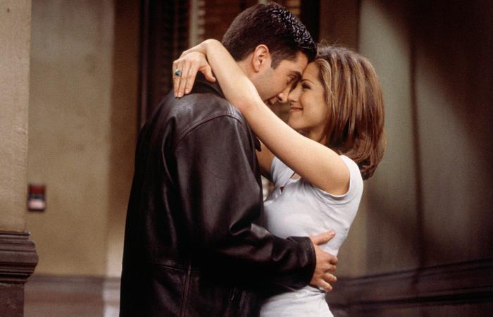 Rachel y Ross en escena de Friends