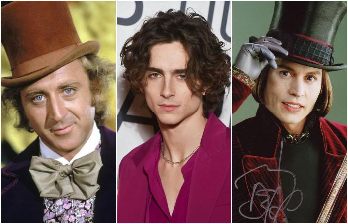 timothée chalamet Gene Wilder y Johnny Depp