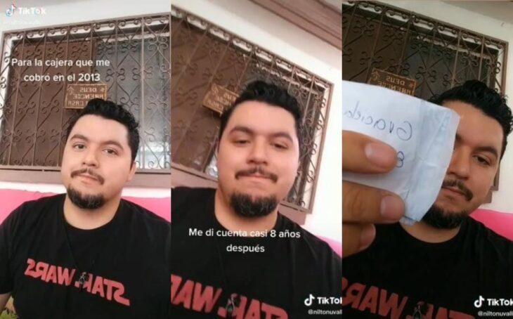 Hombre encuentra número de teléfono en un ticket 8 años después de que loa tendieran
