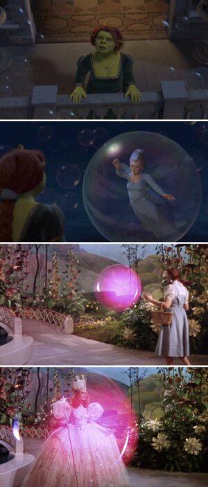 Escena del Mago de Oz ;13 Momentos que fueron magia pura en 'Shrek' y no lo notaste