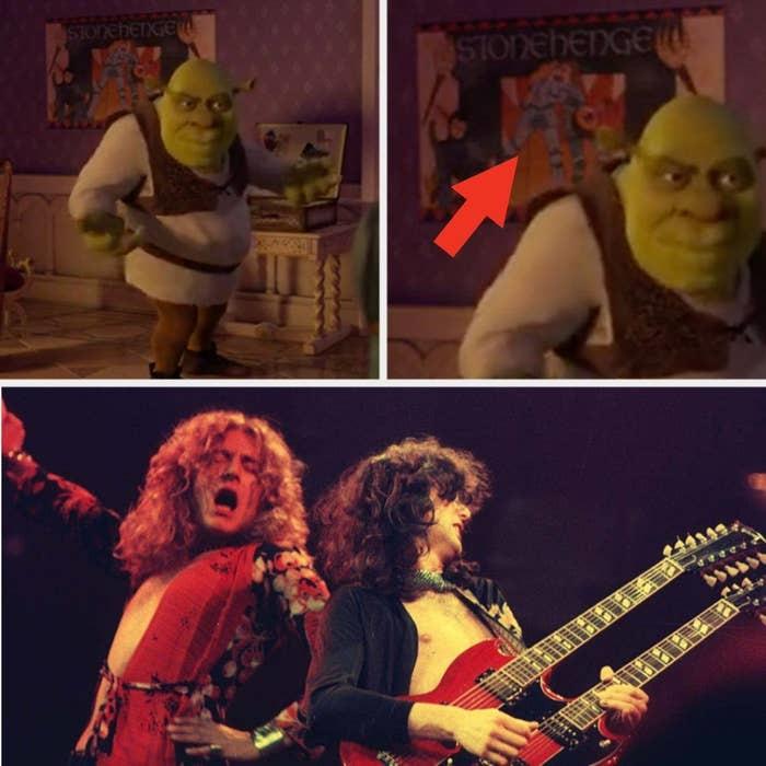 Escena de Shrek con Led Zeppelin de fondo ;13 Momentos que fueron magia pura en 'Shrek' y no lo notaste