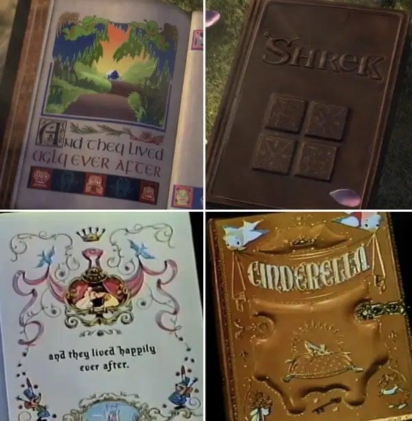 Escena de Shrek con libros abiertos ;13 Momentos que fueron magia pura en 'Shrek' y no lo notaste