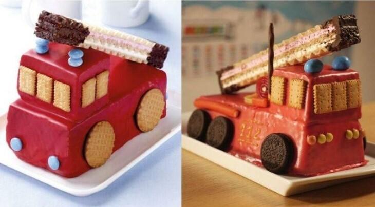 carro de pastel de fresa ;15 Veces en las que la realidad superó las expectativas