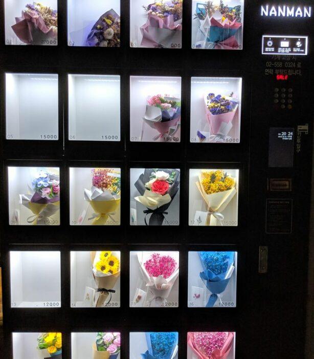 Una maquina expendedora de flores ;18 Pruebas de que Corea del Sur es un lugar increíble para vacacionar