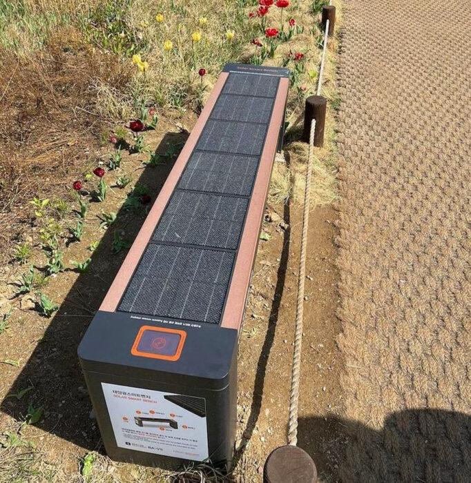 Banca con paneles solares ;18 Pruebas de que Corea del Sur es un lugar increíble para vacacionar