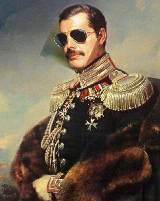 Freddie Mercury; Pintura de Ertan Atay; Artista mezcla personajes de la cultura pop con pinturas y su trabajo es increíble
