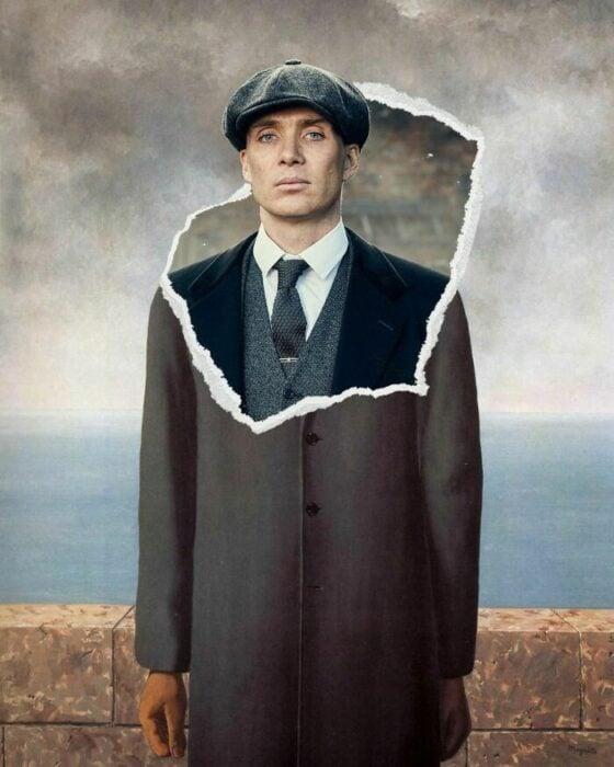 Tomas Shelby; Pintura de Ertan Atay; Artista mezcla personajes de la cultura pop con pinturas y su trabajo es increíble