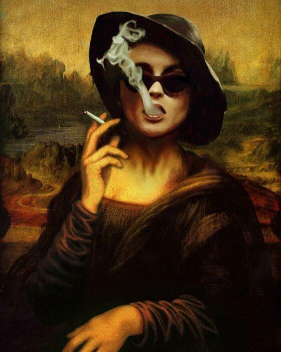 Helena Bohamn; Pintura de Ertan Atay; Artista mezcla personajes de la cultura pop con pinturas y su trabajo es increíble