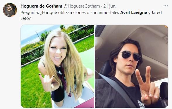 Comentarios en twitter sobre el video de Avril lavigne