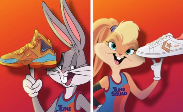 Looney Tunes anunciando su colección de ropa de Nike y Converse