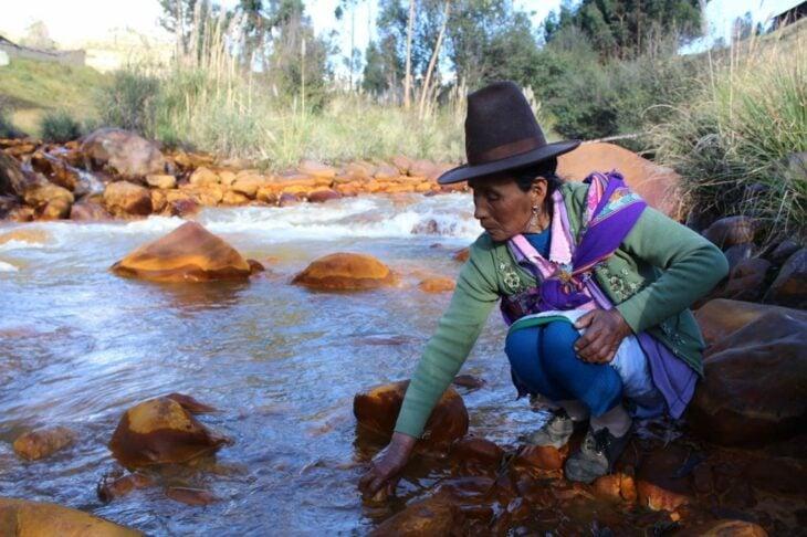 Río en Perú salvado por sus pobladores
