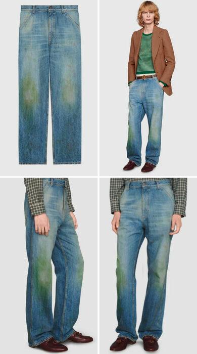 Pantalones de gucci drapeados en color verde