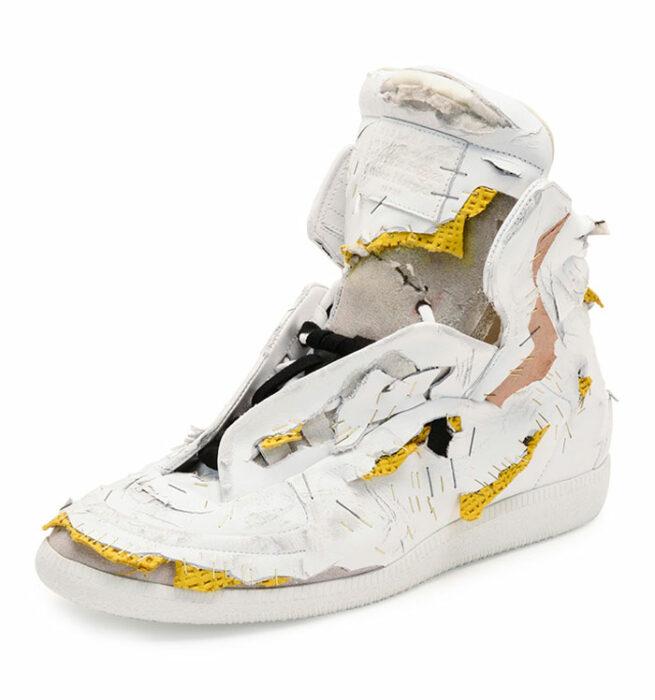 Zapatos desgarrados de gucci